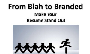 brand your resume effectively