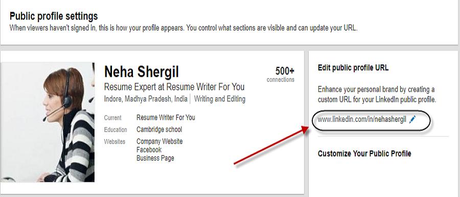 Profile URL